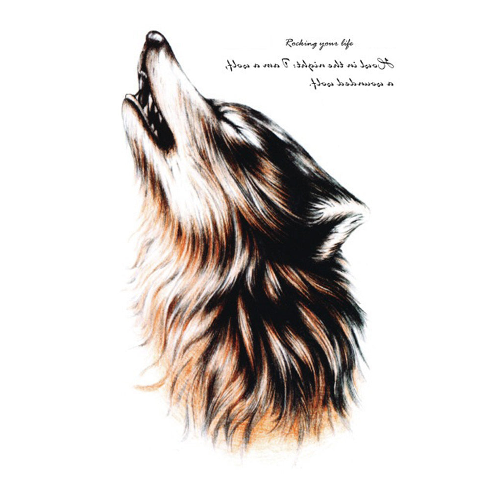 Hot New Waterproof Temporary Tattoo Flash Tattoo Sticker for Body Wild Wolf Design Body Art