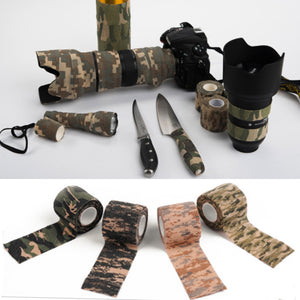 Hot Sale 5cmx4.5m Durable Outdoor Hunting Shooting Tool Stealth Tape Waterproof Wrap Wholesale