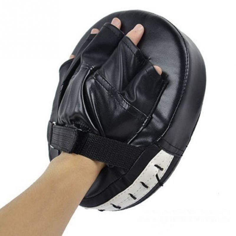 Hot Sale Sanda Martial Muay Thai Kick Kit Black Karate Training Mitt Focus Punch Pads Gloves Sparring Boxing Bags Defense Target