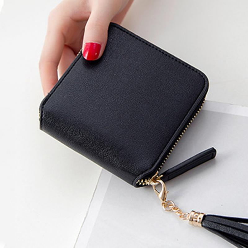 Hot Sale Square Women Coin Purses Holders Wallet Female Leather Tassel Pendant Money Wallets Hot Fashion Clutch Bag