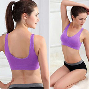 Hot Sell Women Soft Sports Bra Yoga Fitness Stretch Workout Tank Top Seamless Padded Bra Higt Quality
