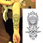 Hot Sexy Fake Temporary tattoos shoulder lower arm transfer tattoo stickers black Totem men spray waterproof tatto designs