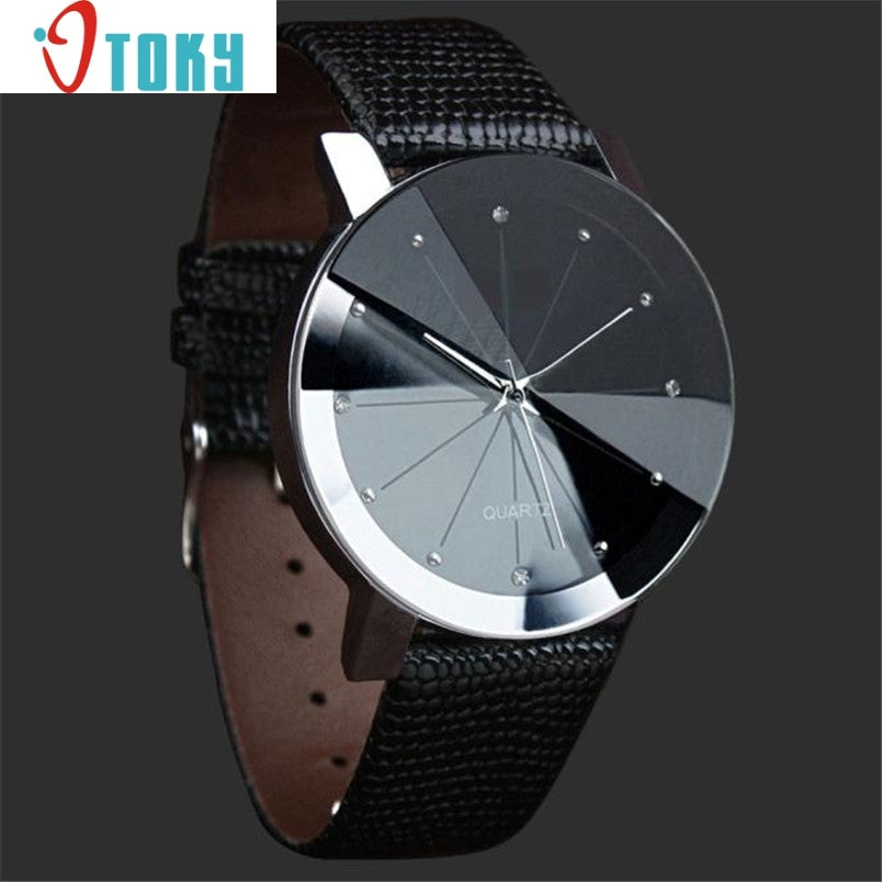 Hot hothot men watch Luxury Quartz Sport Military Stainless Steel Dial Leather Band Wrist Watch Dropshipping FF