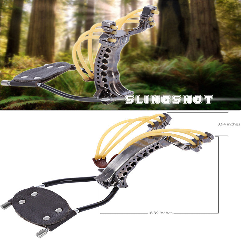 Hunting Bow Tools Hunting Slingshot Rubber Bands Folding Wrist Slingshot Outdoor Powerful Camouflage for Hunting