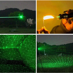 Hunting Green Laser Pointer 303 532nm 10000m Lazer Pen laser sight rifle	Flashlight Adjustable Focus Burning Match Beam