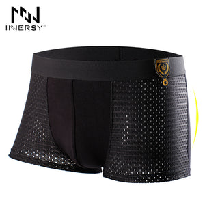 Innersy 2016 Panties Mens 4Pcs\lot Underwear Meryl Boxers Modal Boxer Men Sexy Boxer Ventilate Plus Size Boxers Mens Underwear