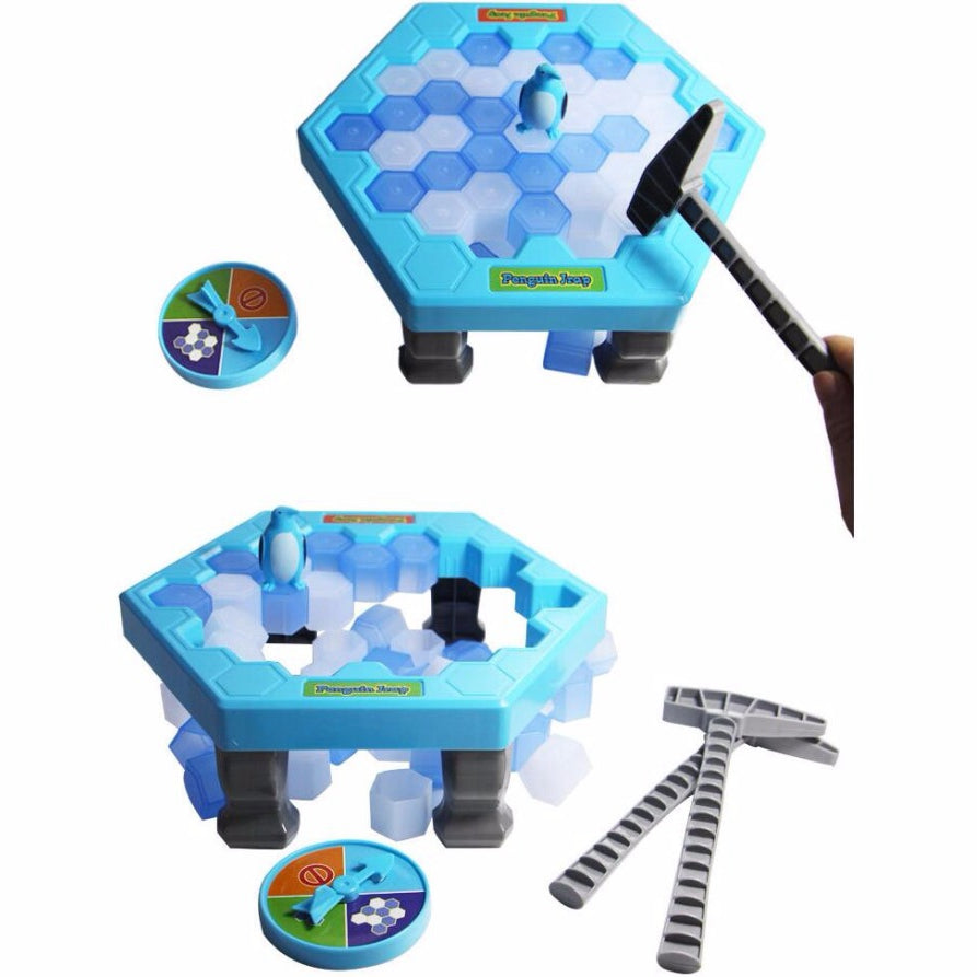 Interactive Ice Breaking Table Penguin Trap Children Funny Game Penguin Trap Activate Entertainment Toy Family Fun Game with Box