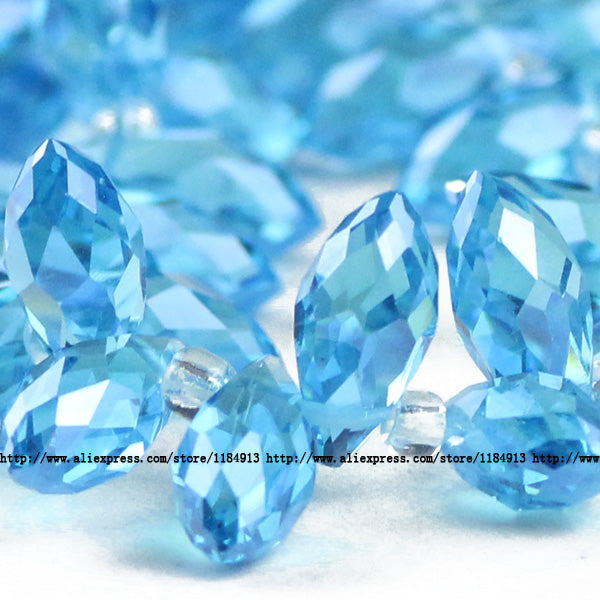 JHNBY Briolette Pendant Waterdrop AAA Austrian crystal beads 6*12mm 50pcs Teardrop glass beads for jewelry making bracelet DIY
