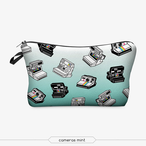 Jom Tokoy Fashion Brand Cosmetic Bags 2017 New Fashion 3D Printing Women Travel Makeup Case