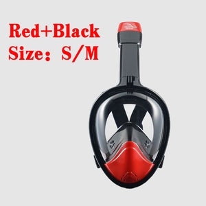 KEEE DIVING Anti Fog Full Face Snorkeling Mask Diving Snorkel 2 In 1 For Gopro 180 Degree Dry Easy Free Breath Dive Gear Tube
