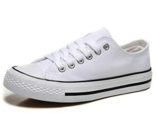 Large Size 35~44 Classic Shallow Mouth White Women Canvas Shoes New Solid Color Lace-up Chaussure Femme Shoe Woman White UO9687