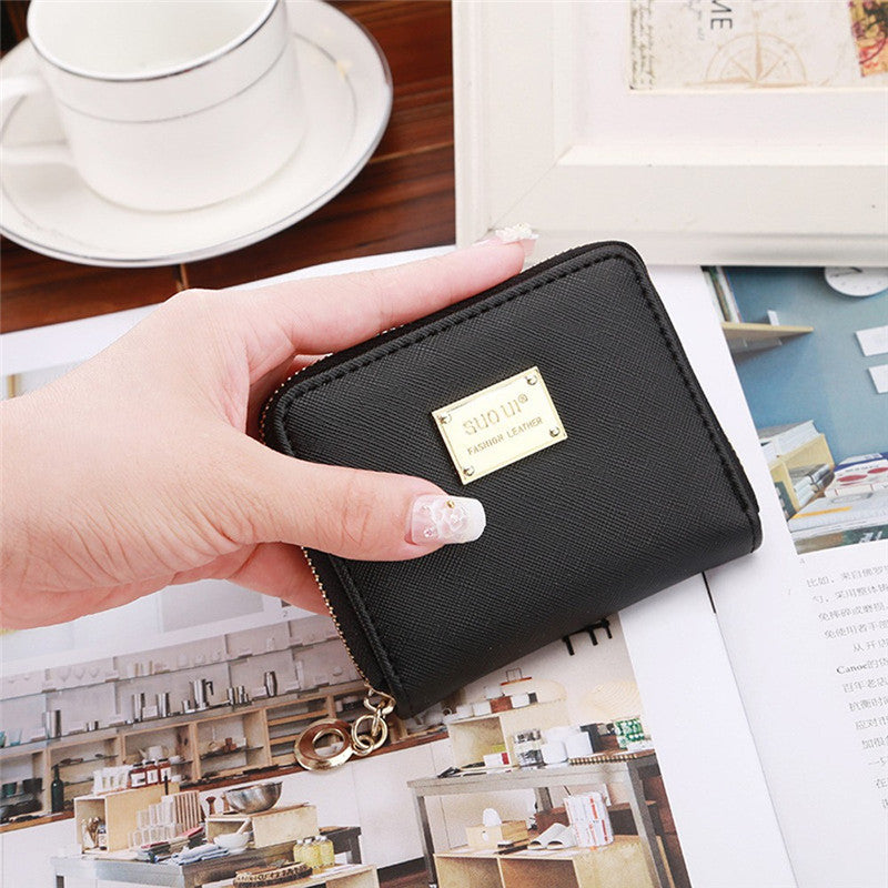 Leather Wallet Female Fashion Brand 2017 New Arrival Short Wallet Women Coin Purses Holder Small Zipper Wallet 8 Colors Carteira