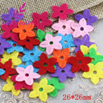Lucia Crafts Approx 100pcs/lot Random Mixed Multi Shapes Felt Patch Applique Scrapbooking DIY Sewing Accessory D14010302(HS100)