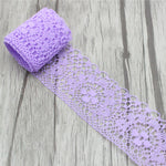 Lucia crafts Muti options width 4cm Lace Ribbon DIY Embroidered Net Lace Trim Fabric For Sewing Decoration 050025080