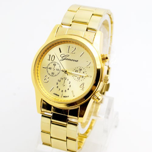 Luxury Geneva Brand Stainless Steel Watch Women Ladies Men Fashion Dress Quartz Wristwatches Relogio Feminino G05