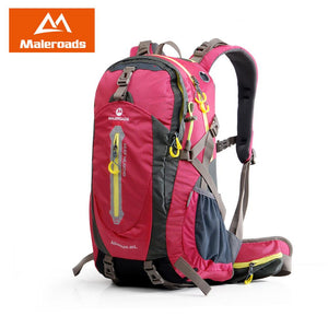 Maleroads Camping Hiking Backpack Sports Bag Travel Trekk Rucksack Mountain Climb Equipment 40 50L for Men Women males Teengers