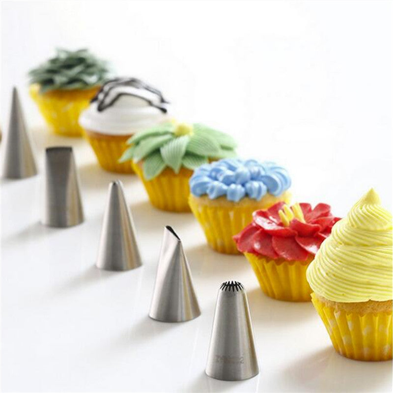 Medjelio 35PCS Russia Icing Piping Nozzles tulip Rose flowers Pastry Tips Cupcake maker Cake Decorating DIY dessert baking tools