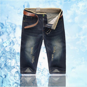 Men Jeans Shorts large size 28-46 2017 Summer New Shorts cotton blue male Fashion Casual Boys Best Pop Clothing Cheap Left rom