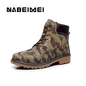 Men boots big size 39-46 waterproof winter boots men martin boots black militar 2017 fashion rubber shoes for hunting brown