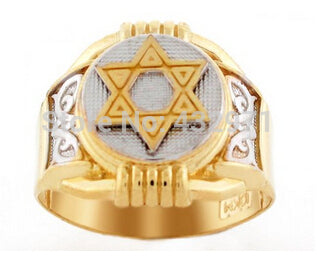 Men's 316L Stainless Steel Cut Out Star Of David Ring Bling ring with high quality,gold and silver