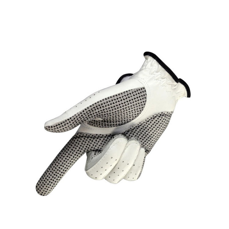Men's Genuine Leather Golf Gloves Left Right Hand Soft Breathable Pure Sheepskin With Anti-slip granules Golf Protective Gloves