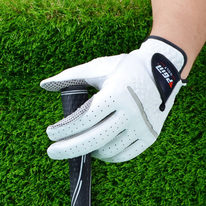 Men's Genuine Leather Golf Gloves Men's Left Right Hand Soft Breathable Pure Sheepskin With Anti-slip granules Golf Gloves Golf