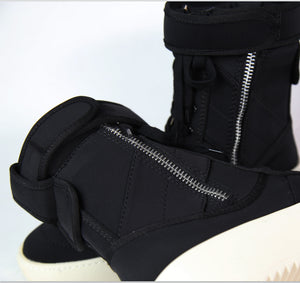 Micholediys Handmade Winter Military High Army Boots FOG Street style Motorcycle shoes Platform Sexy Justin Bieber Boots