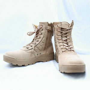 Military Tactical Combat Outdoor Sport Army Men Boots Desert Botas Hiking Autumn Shoes Travel Leather High Boots Male