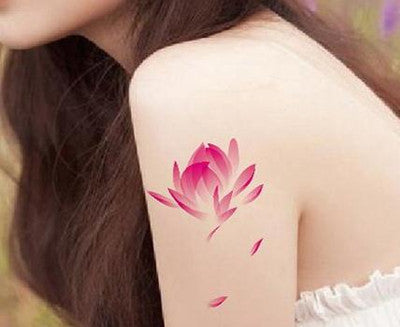 (Min order $0.5) waterproof temporary tattoo tatoo henna fake flash tattoo stickers Taty tatto Fresh lotus SYA052