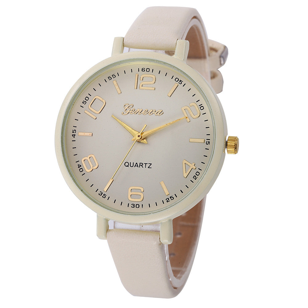 Montres Women Watches Geneva Watch Small Faux Leather Quartz Analog Wrist Watch Ladies Bracelet Watch Hot Sale relogio feminino