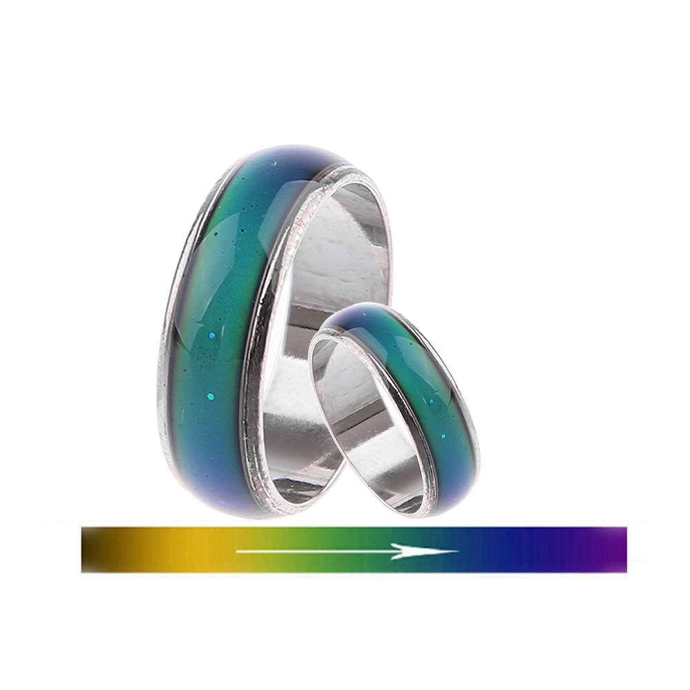 Mood Rings For Women Changing Color Heartbeat Ring Men Emotion Feeling Ring Mood Temperature Couple Ring