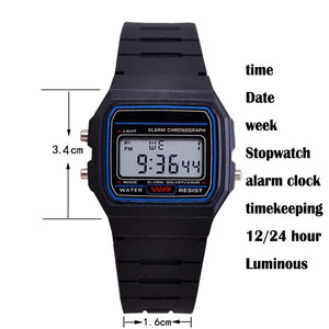 Multifunctional Digital Wristwatches men's Sports Watches Silica gel LED watch Stopwatch alarm clock Luminous Christmas gifts