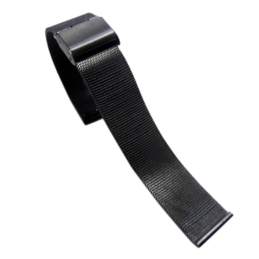 NEW Arrival Watch Band 18/20/22/24mm Stainless Steel Watch Mesh Bands Strap For Wristwatch Double Clasp Bracelet Gold