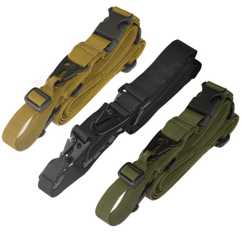 NEW Durable Tactical 3 Point Rifle Sling Adjustable Bungee Sling Swivels Airsoft Hunting Gun Strap
