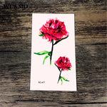 NEW Flower Body Art Sexy Harajuku Waterproof Temporary Tattoo For Man Woman Henna Fake Flash Tattoo Stickers WU&MO