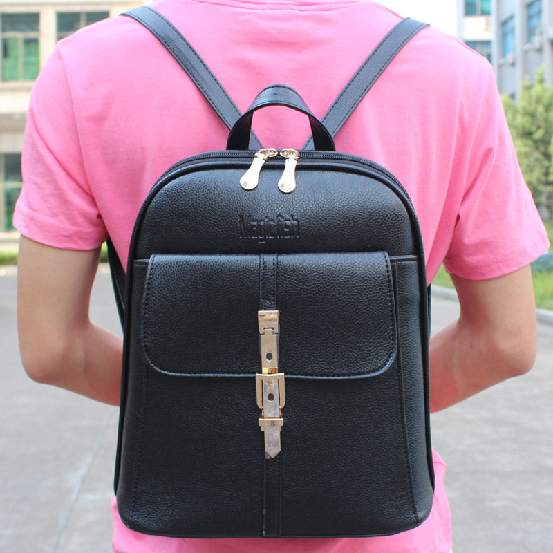 New 2017 High Quality Women's Backpack Famous Brands Fashion Lady Leather Backpack School Backpacks For Teenage Girls C0087/l