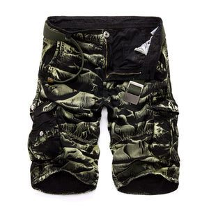 New 2017 Men Cargo Shorts Casual Loose Short Pants Camouflage Military Summer Style Knee Length Plus Size 10 Colors Shorts Men