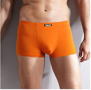 New 2017 Men's Underwear Boxer Shorts Bamboo Fiber Solid Color Pants Breathable Antibacterial Pantalones Para Hombres