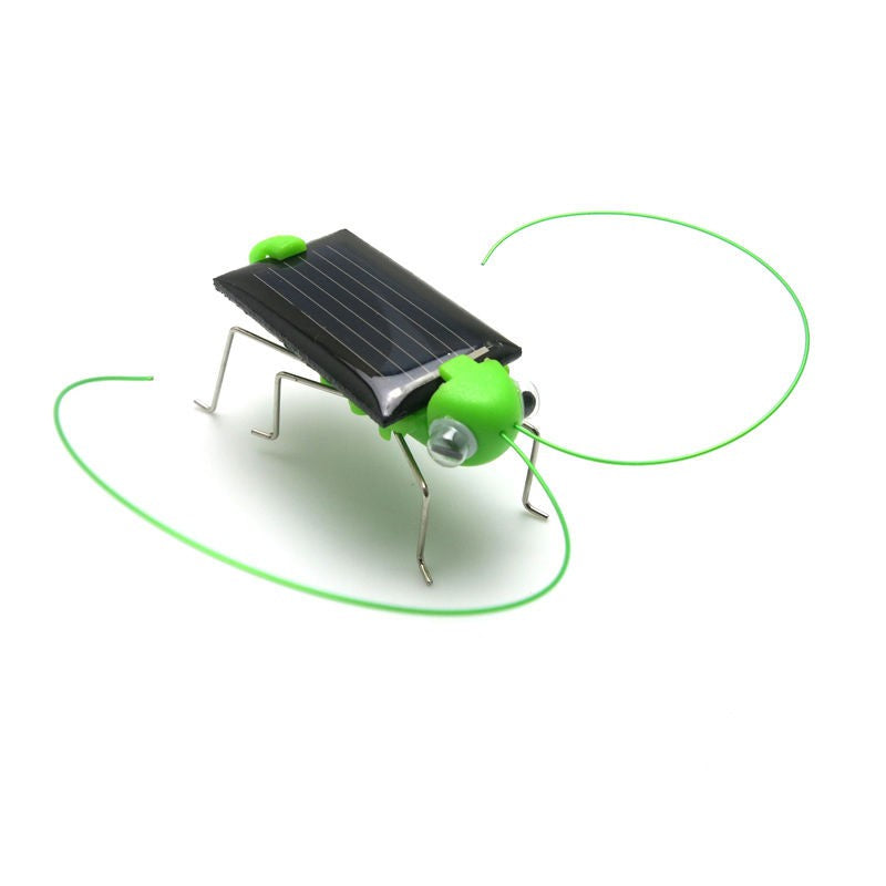 New 4*1.8 cm Solar Power Toy Energy Crazy Grasshopper Cricket Kit Christmas Gift Toys