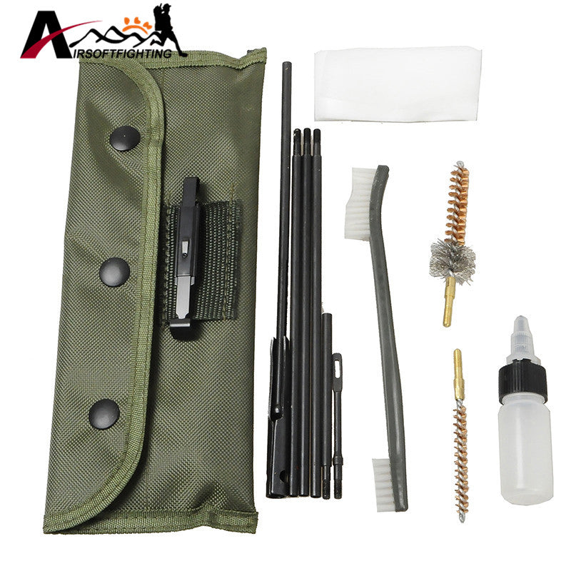 New Arrival 10 Piece .22 22LR .223 556 Rifle Gun Cleaning Kit Set Cleaning Rod Nylon Brush Cleaner Gun Accessories Clean Tools