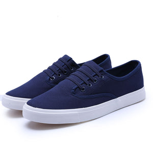 New Arrival 2017 Spring Summer Mens Casual Shoes Breathable Men Canvas Shoes Brand Soft Thick Sole Classic Black White Blue