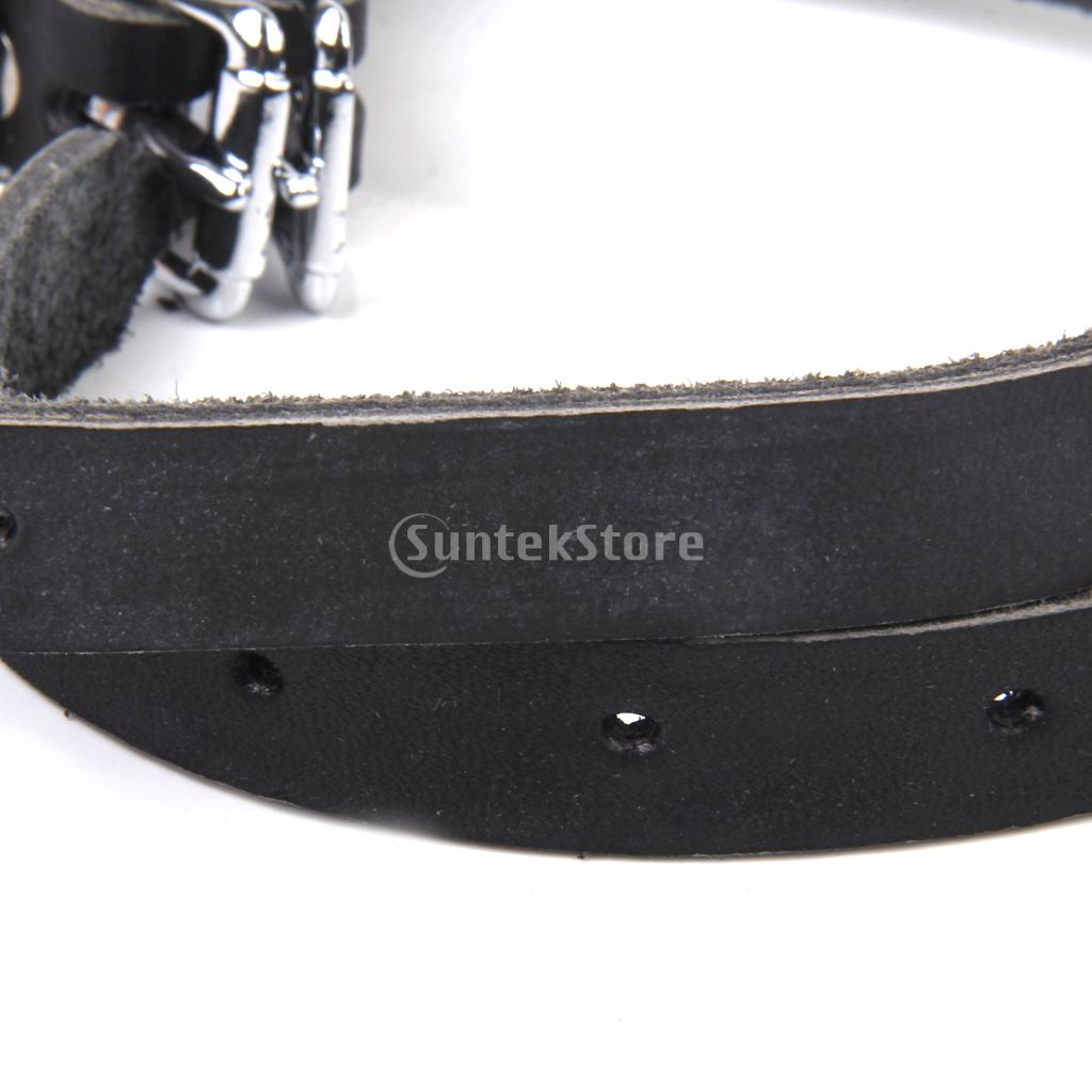 New Arrivals 2015 Black Leather Spur Straps Band Belt for Horse Pony Riding