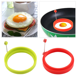 New Creative Round Shape Silicone Omelette Mould Shape for Eggs Frying Pancake Cooking Mould Breakfast Essential