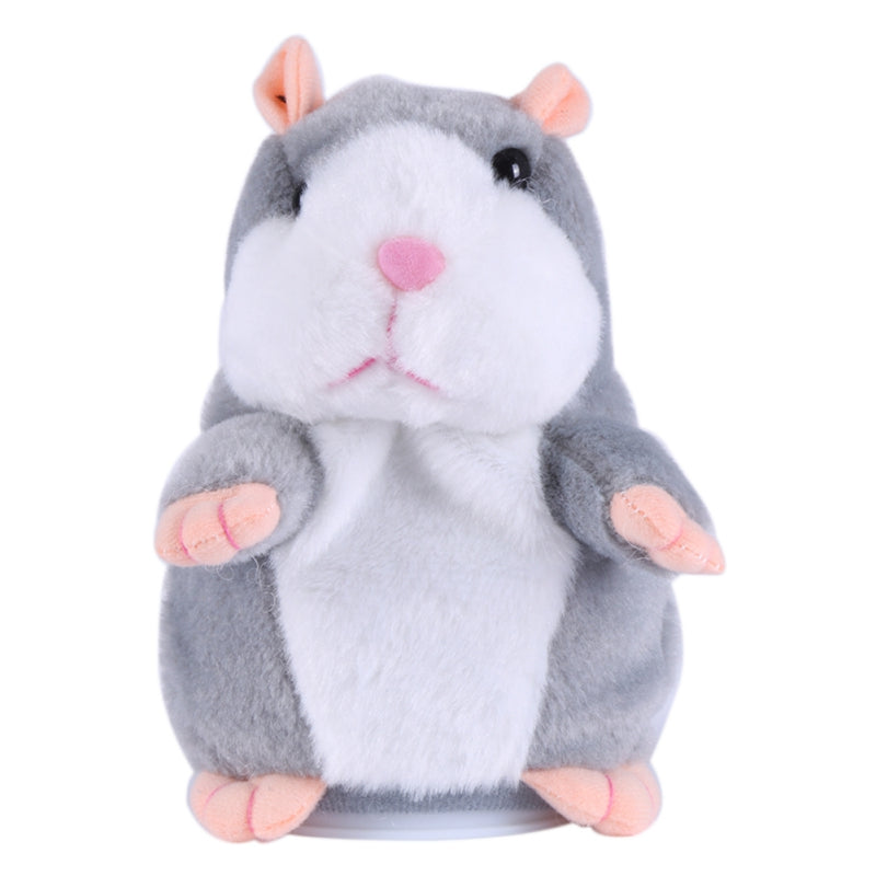 New Lovely Talking Hamster Plush Toy Sound Record Speaking Hamster Talking Toys for Children Y6