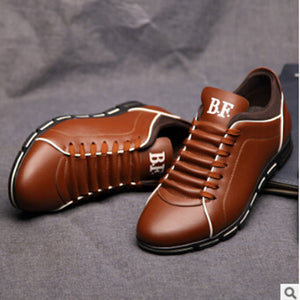 New Luxury Brand Men Shoes England Trend Casual Leisure Shoes Leather Shoes Breathable For Male Footer Loafers Men's Flats