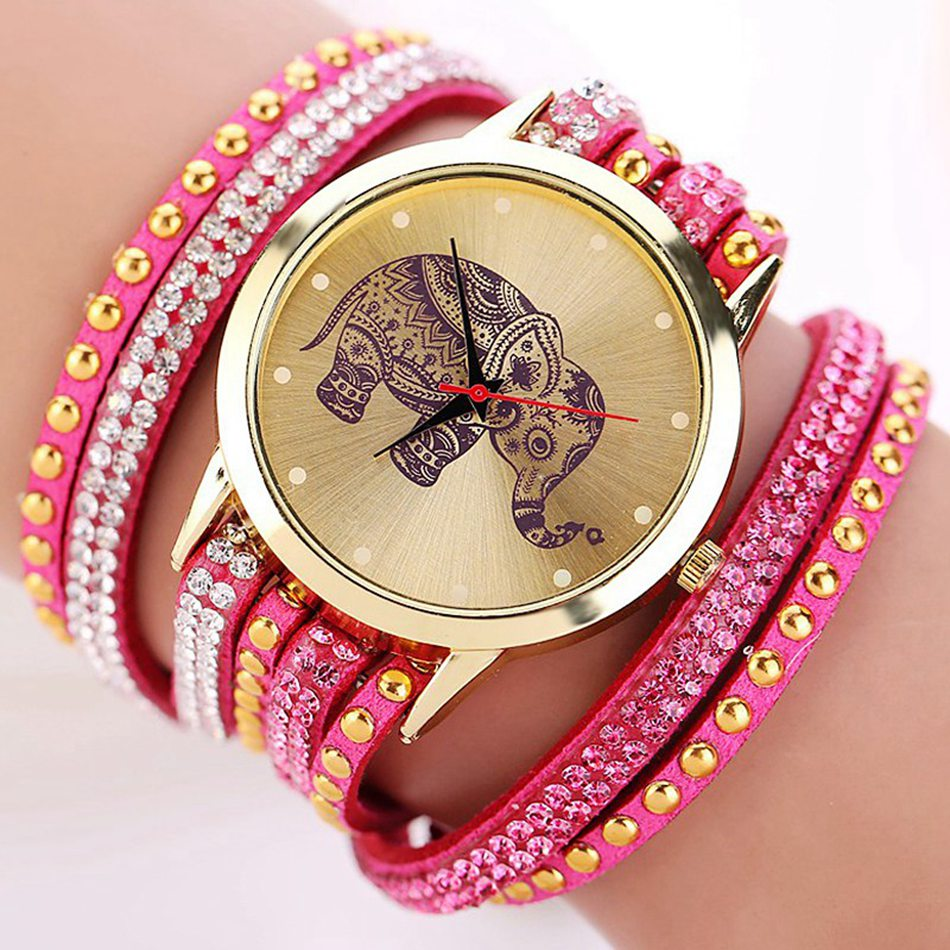 New Popular Fashion Elephant Pattern Bracelet Watches Watch Women Dress Classical Jewelry Quartz Wristwatch XR955