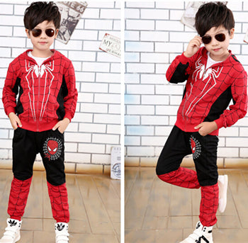New Spiderman Baby Boys Clothing Sets Cotton Sport Suit For Boys Clothes Spring Spider Man Cosplay Costumes KIds Clothes Set
