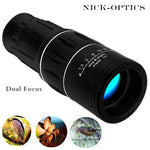 New Travel 16x52 Monocular HD Telescope Dual Focus Zoom Powerful Monocular Binoculars High times For Bird-watching Gifts Best