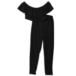 New Women Casual Short Sleeve Bodycon Romper Jumpsuit Club Bodysuit Long Pants