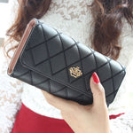 New fashion women wallet brand Long design women wallets pu leather lattice high quality female purse clutch bag 8 colors